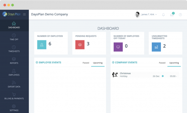 DaysPlan | Timesheets & PTO Management Software